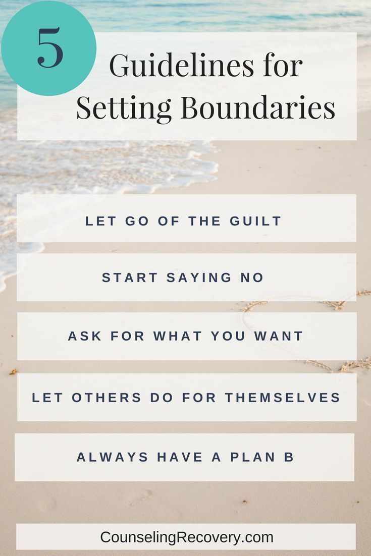Workbooks substance abuse recovery worksheets : 5 Guidelines You Need To Set Healthy Boundaries | Codependency ...