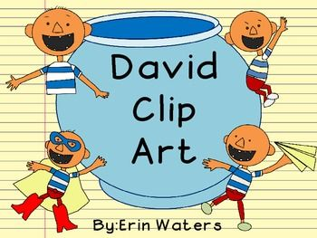 David Clip Art So Great For Literacy And Math Stations Fun Education Clip Art Book Activities