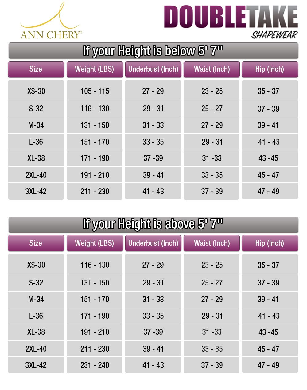 Ann chery waist cincher workout corset shapewear official size chart guide also rh pinterest
