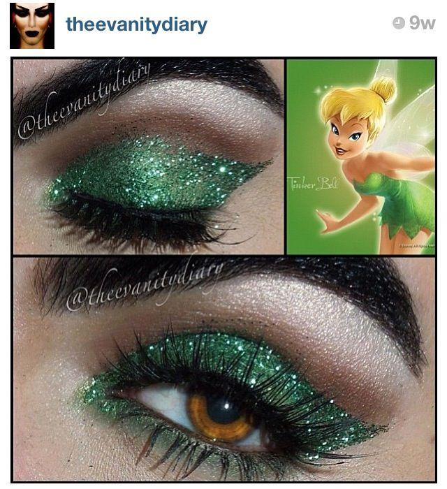 Use Tinkerbell Makeup For St Patricks Day Saint Patricks Day Makeup Tinkerbell Makeup Disney Costume Makeup