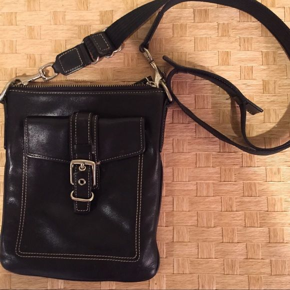 "COACH shoulder strap mini purse It's a shoulder strap purse. About 6x8"" barely used. I haven't even rubbed it down with leather conditioner and it looks pretty brand new. I had 5 different colors so all are in great shape. Coach Bags Mini Bags"