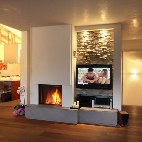Caminetti moderni moderni unutarnji kamini fireplace for Pareti tv moderne