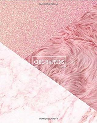 Chic Happens: Baby Pink Marble Background Pink Fur Combination Chic Happens College Ruled Composition Notebook; Journal (Notebooks)
