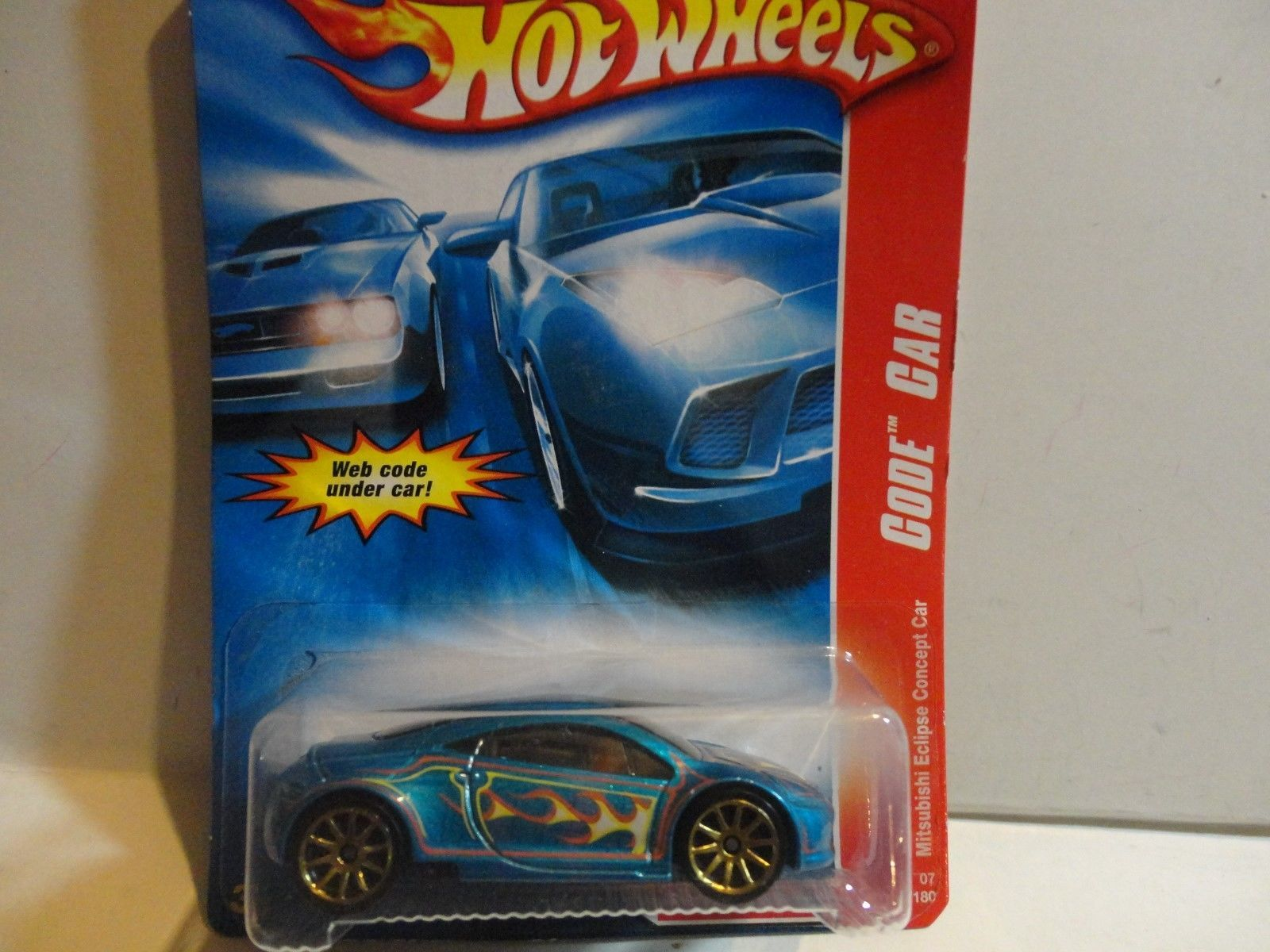 2007 Hot Wheels 108 Blue Mitsubishi Eclipse Concept Car W Gold 10