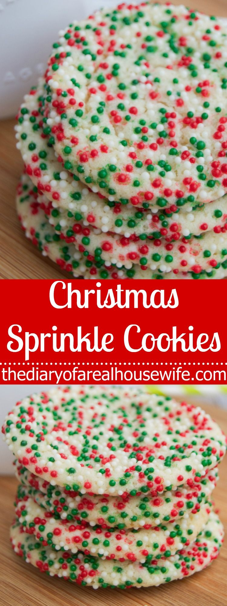 Christmas Sprinkle Cookies This Is Such A Fun Cookie And It Was So