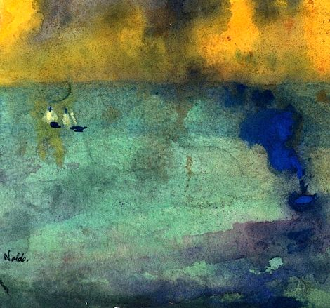 Emil Nolde, Light-flooded Sea Green on ArtStack #emil-nolde #art
