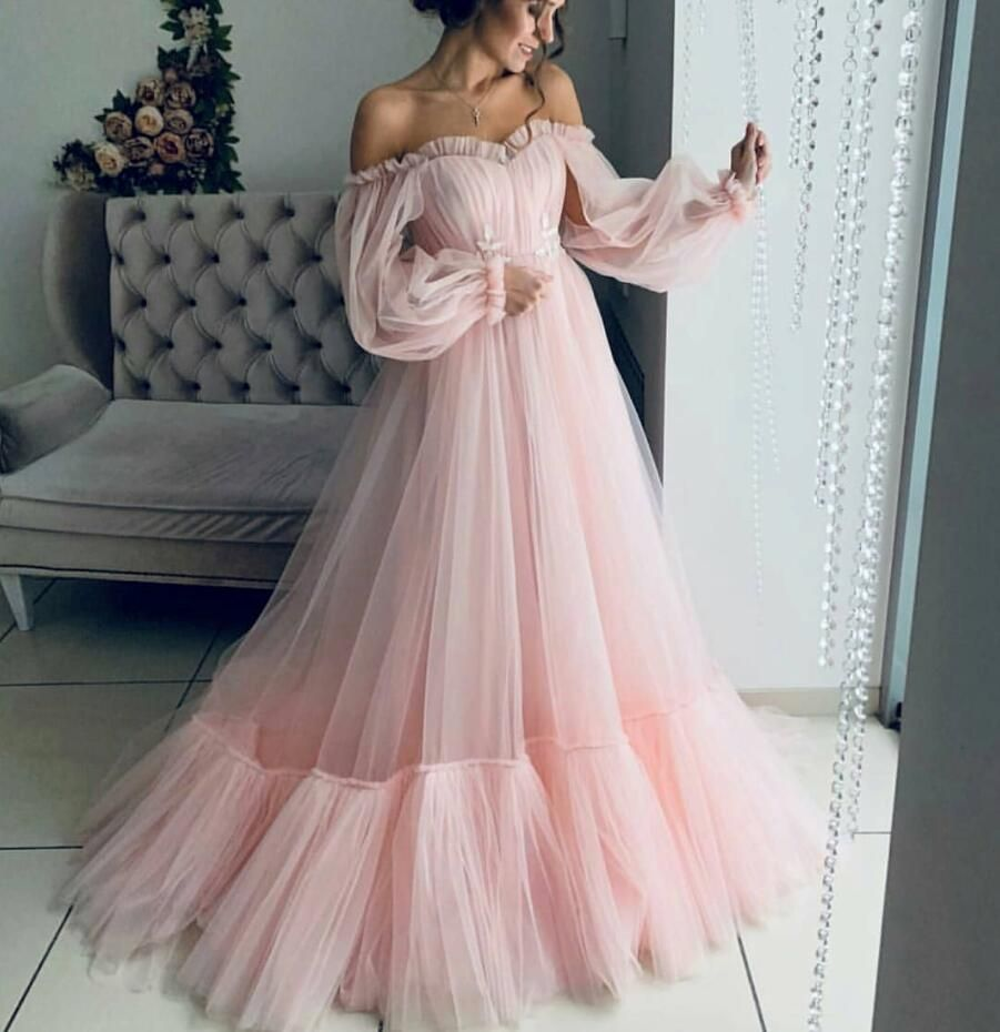2019 Sky Blue Prom Dresses Sweetheart A Line Poet Long Sleeves Formal Evening Gowns Floor Length Plus Size Vestidos De Fiest From Julia4444 99 50 Dhgate Com Prom Dresses Long With Sleeves [ 930 x 901 Pixel ]