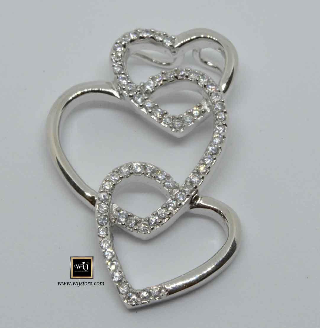 كود 171 تعليقة فضة نسائى Heart Ring Jewelry Rings