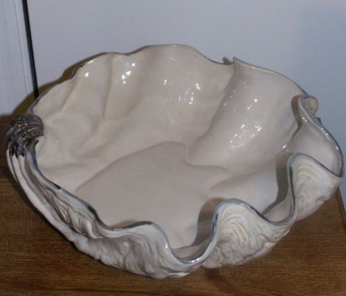 Pottery Barn Under Sea Seaweed Serving Stand And Clam Shell Bowls