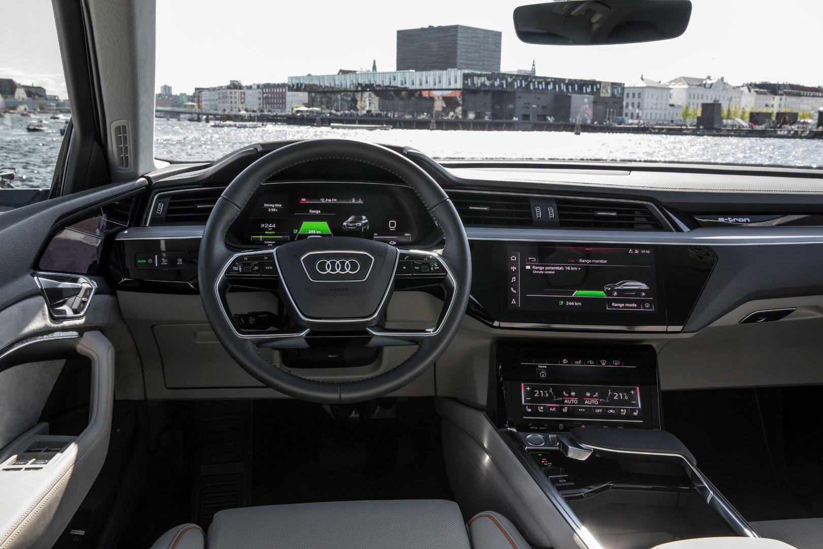 Audi E Tron Interior Revealed Ahead Of Official Reveal Audi E Tron Audi Pickup Trucks