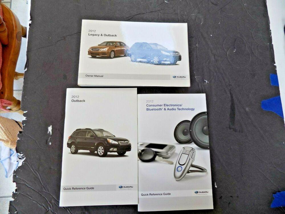 2012 Subaru Legacy Outback Owners Manual Operator User Guide Book New Original Ebay In 2020 Subaru Legacy Legacy Outback 2012 Subaru Legacy