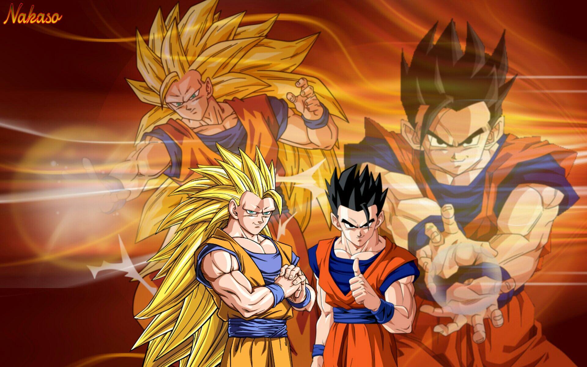 DBZ: Goku SSj3 vs mystic Gohan by hose1985 on DeviantArt
