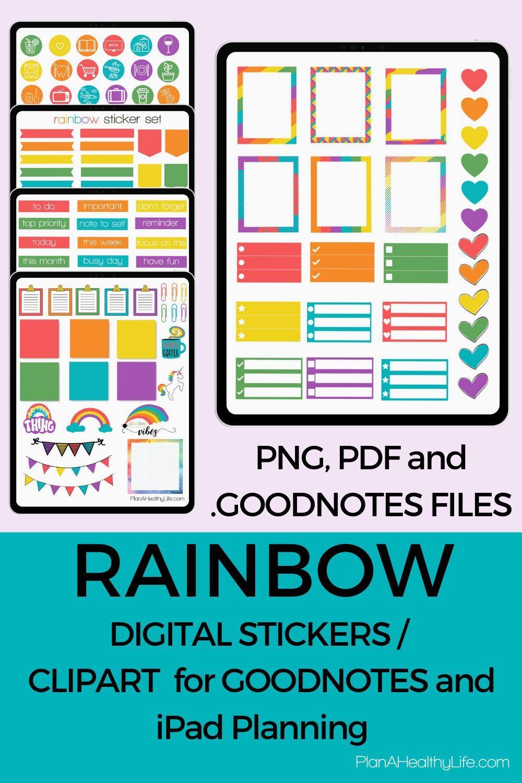 Rainbow goodnotes stickersWarm Rainbow Sticker Sheetrainbow printablefall stickersPrintable StickersBullet Journal stickers COD14