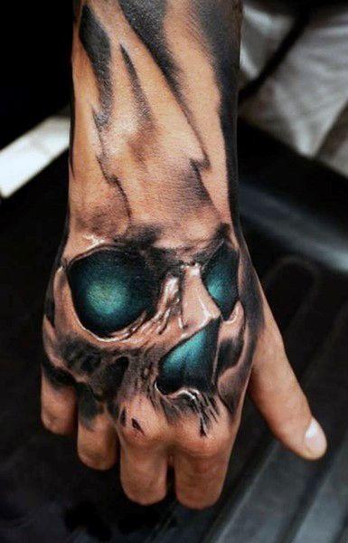 80 Mano Del Cráneo Diseños De Tatuajes Para Los Hombres Ideas De