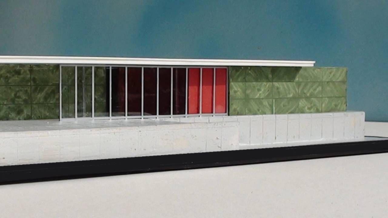 Mies Van Der Rohe BARCELONA PAVILION   1:100 Model