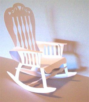 How To Make A Paper 3d Rocking Chair 5 High Diy Rocking Chair Rocking Chair Patterned Chair