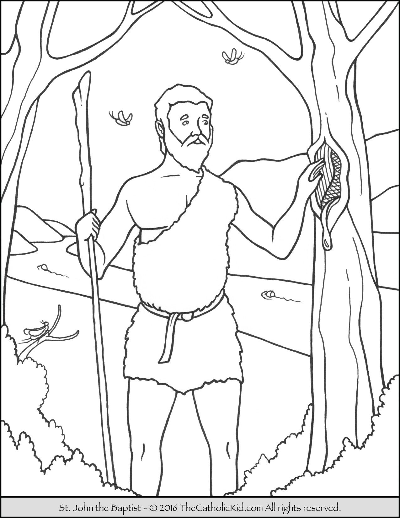 Saint John The Baptist Coloring Pages The Catholic Kid John The Baptist Saint Coloring Coloring Pages