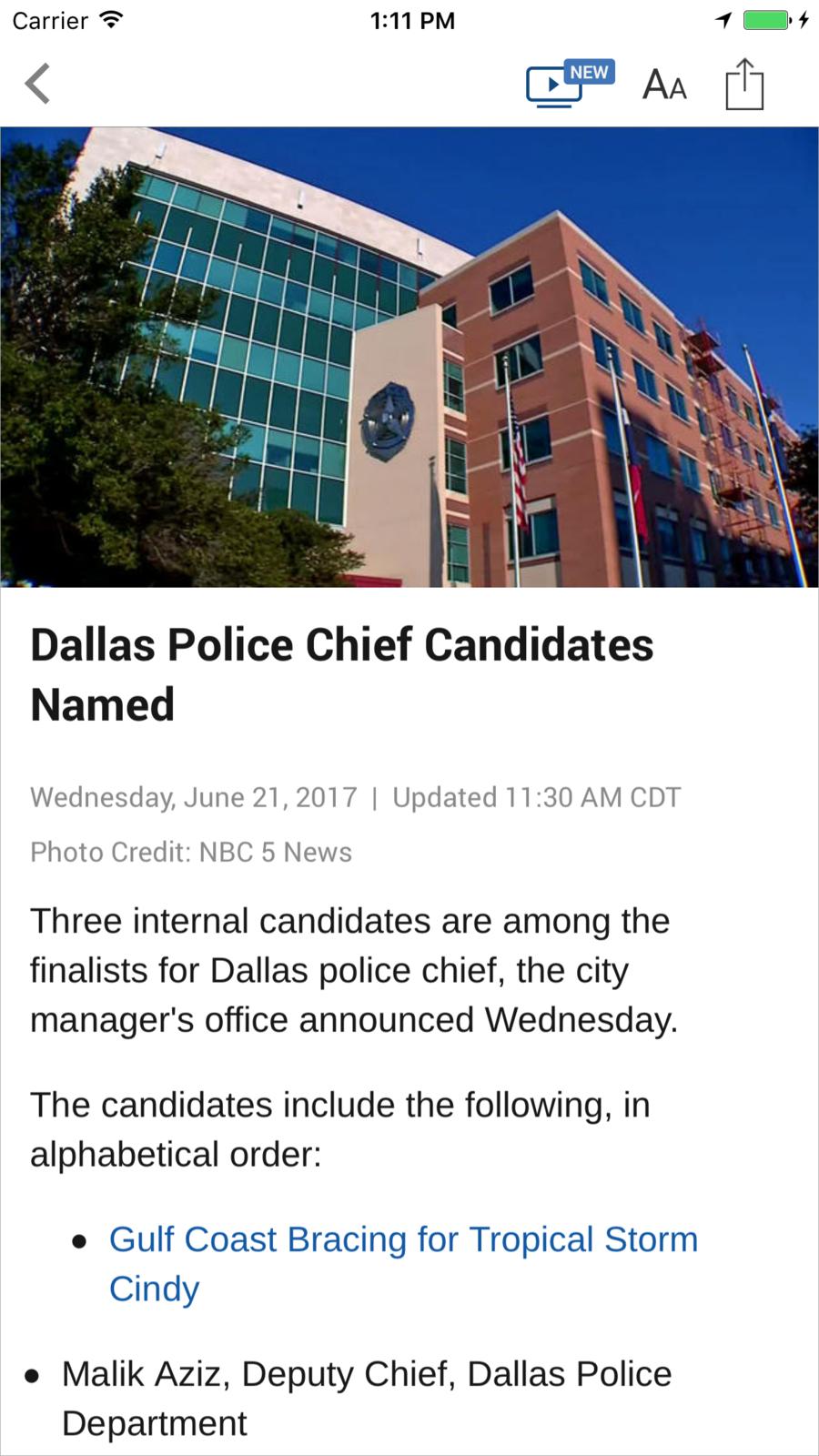 NBC 5 DallasFort Worth LLCMediaNewsios Dallas fort