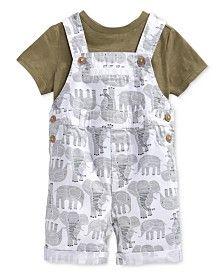 2a966726d First Impressions Baby Boys  T-Shirt   Elephant Shortall Set