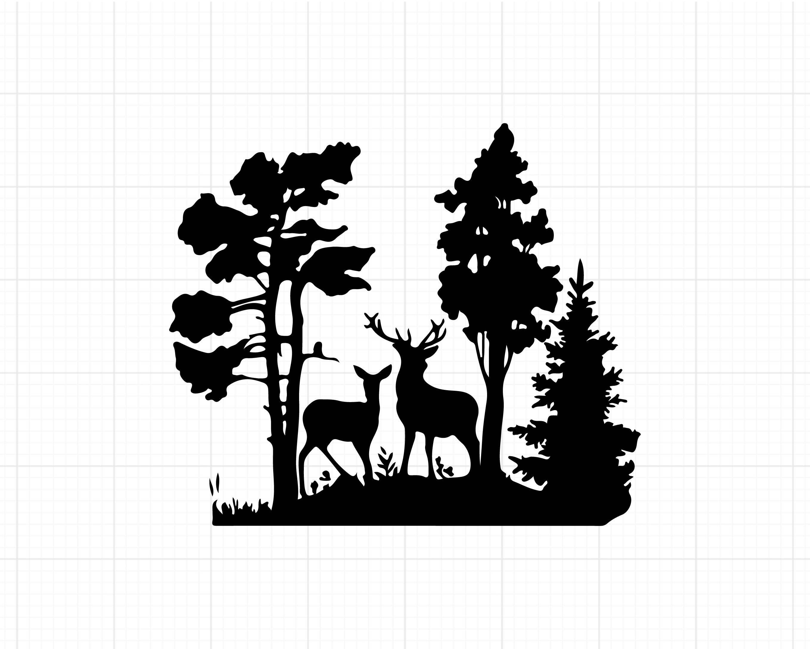 Deer Svg Files Forest Deer Svg Deer Silhouette Clipart For Cricut Vector Graphics In 2020 Deer Silhouette Vector Graphics Deer Art