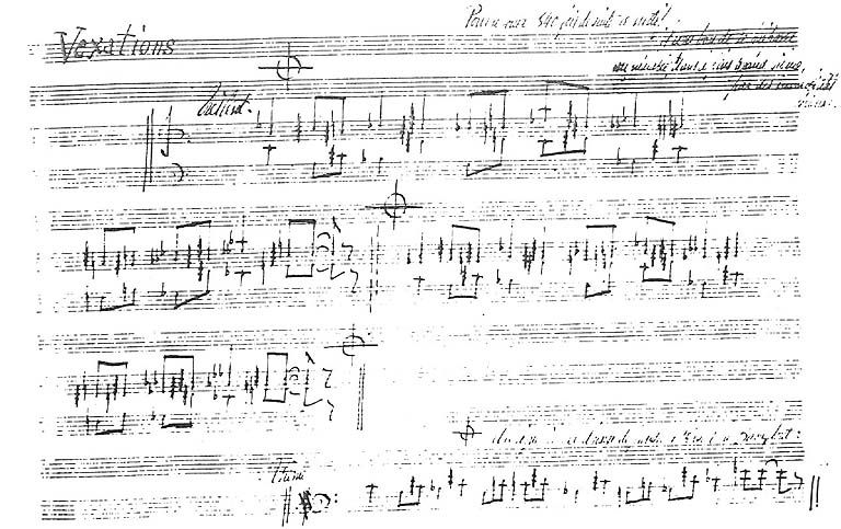 Erik satie manuscript vexations erik satie noah taylor