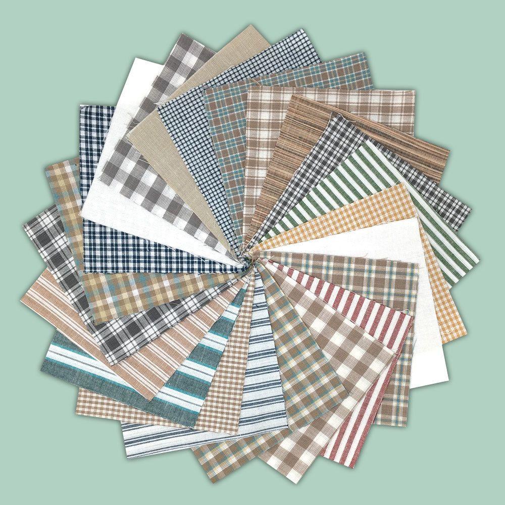 6 inch Precut Cotton Homespun Fabric Quilt Squares by JCS 40 Farmhouse Red Charm Pack