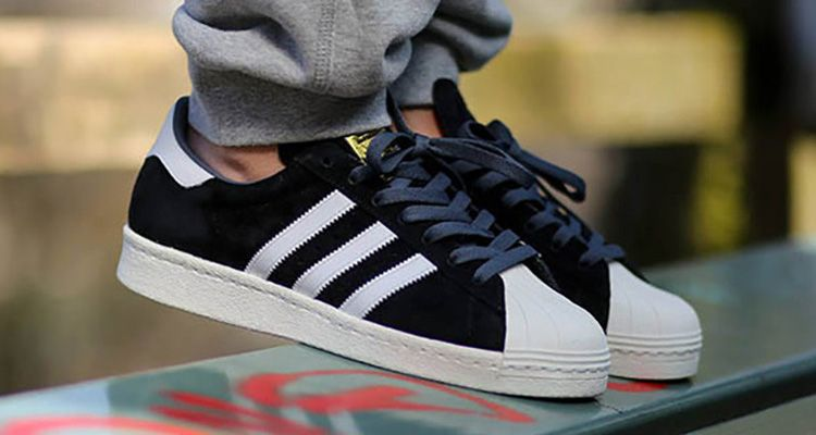 best website 592f4 7eea2 adidas Superstar 80s Deluxe Suede Black White Available Now