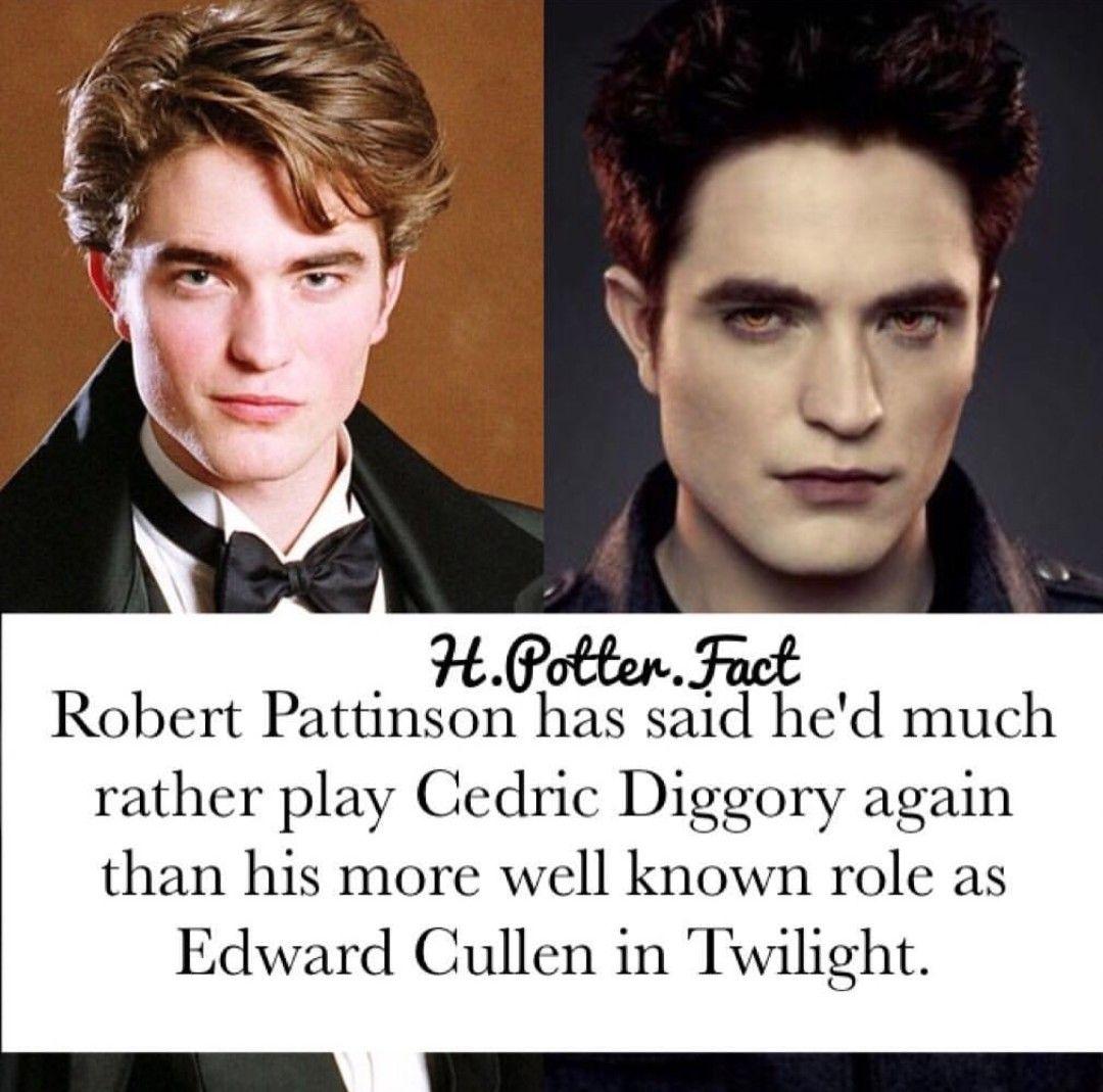 H Potter Fact Instagram Cedric Diggory Robert Pattinson Twilight Book