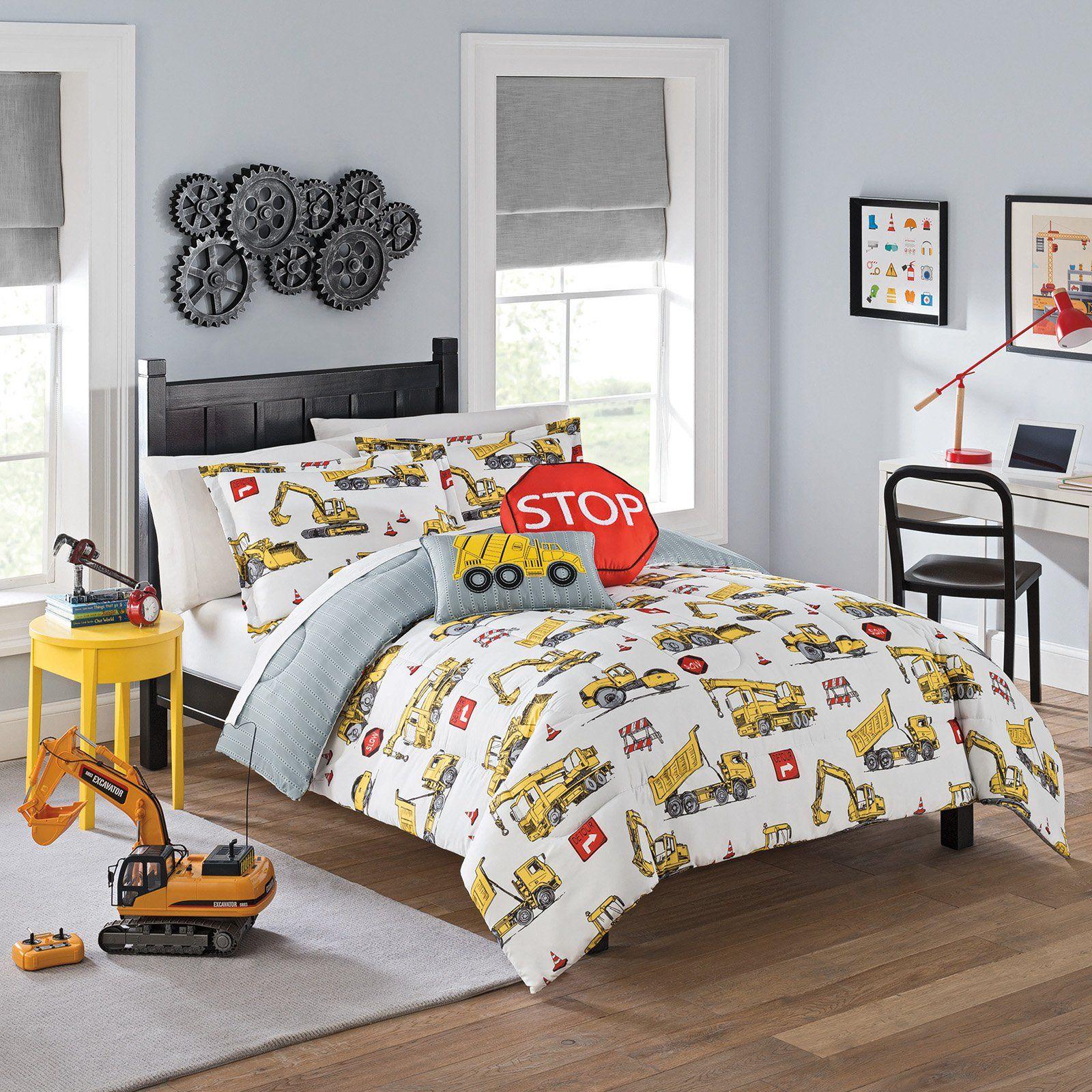 Under Construction Reversible Kids Comforter Set By Waverly Size