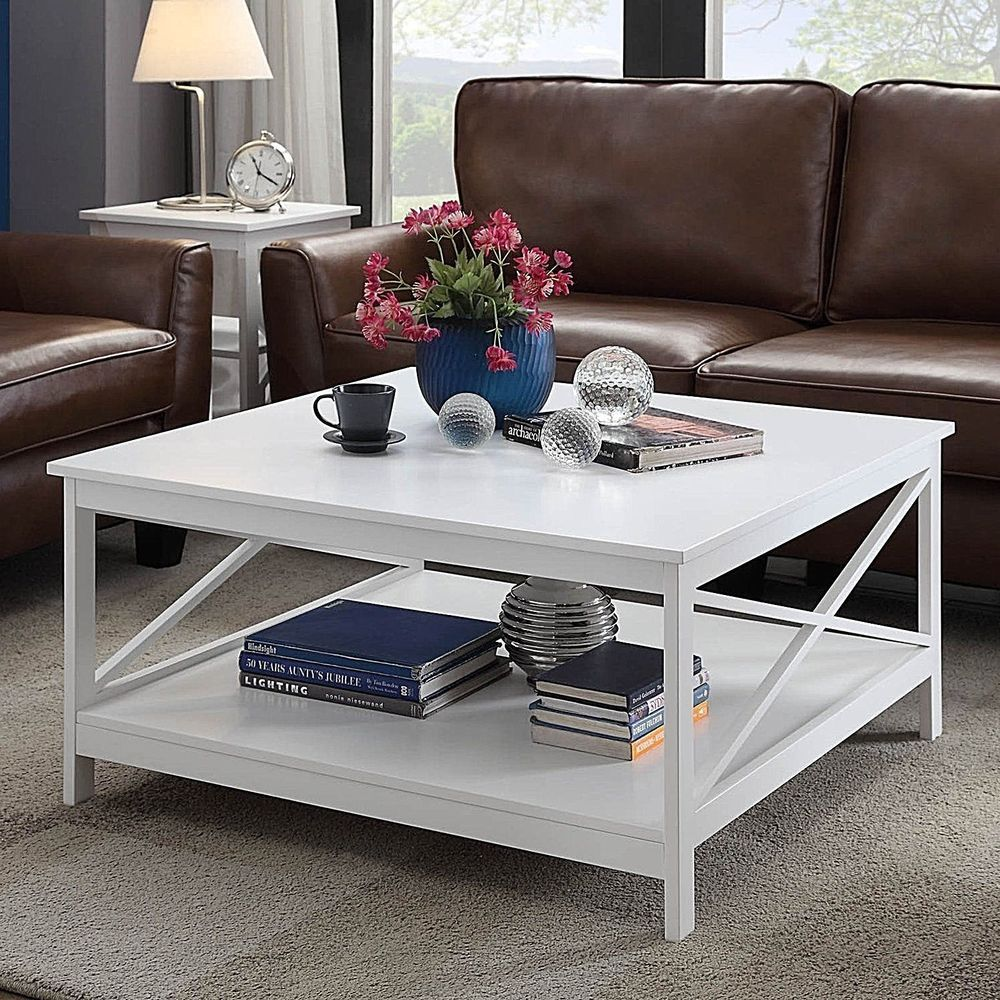 36 square modern wood coffee table furniture with bottom
