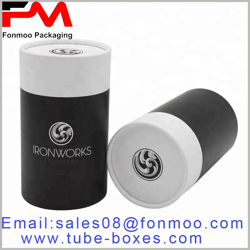 Large cardboard tube packaging with logo, can be used as a large