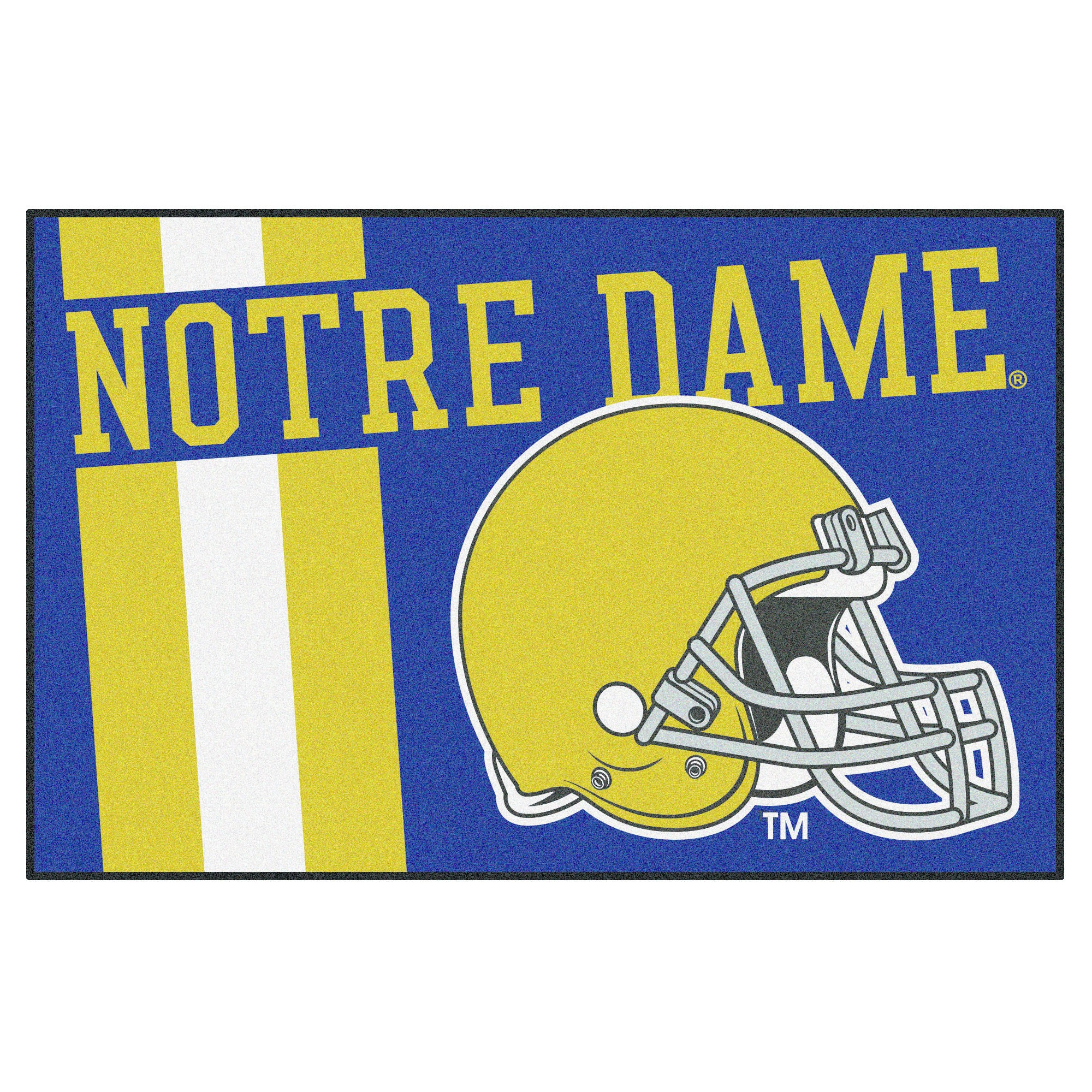 finest selection cc968 5cecf NCAA 19x30 Uniform Starter Rug Notre Dame Fighting Irish