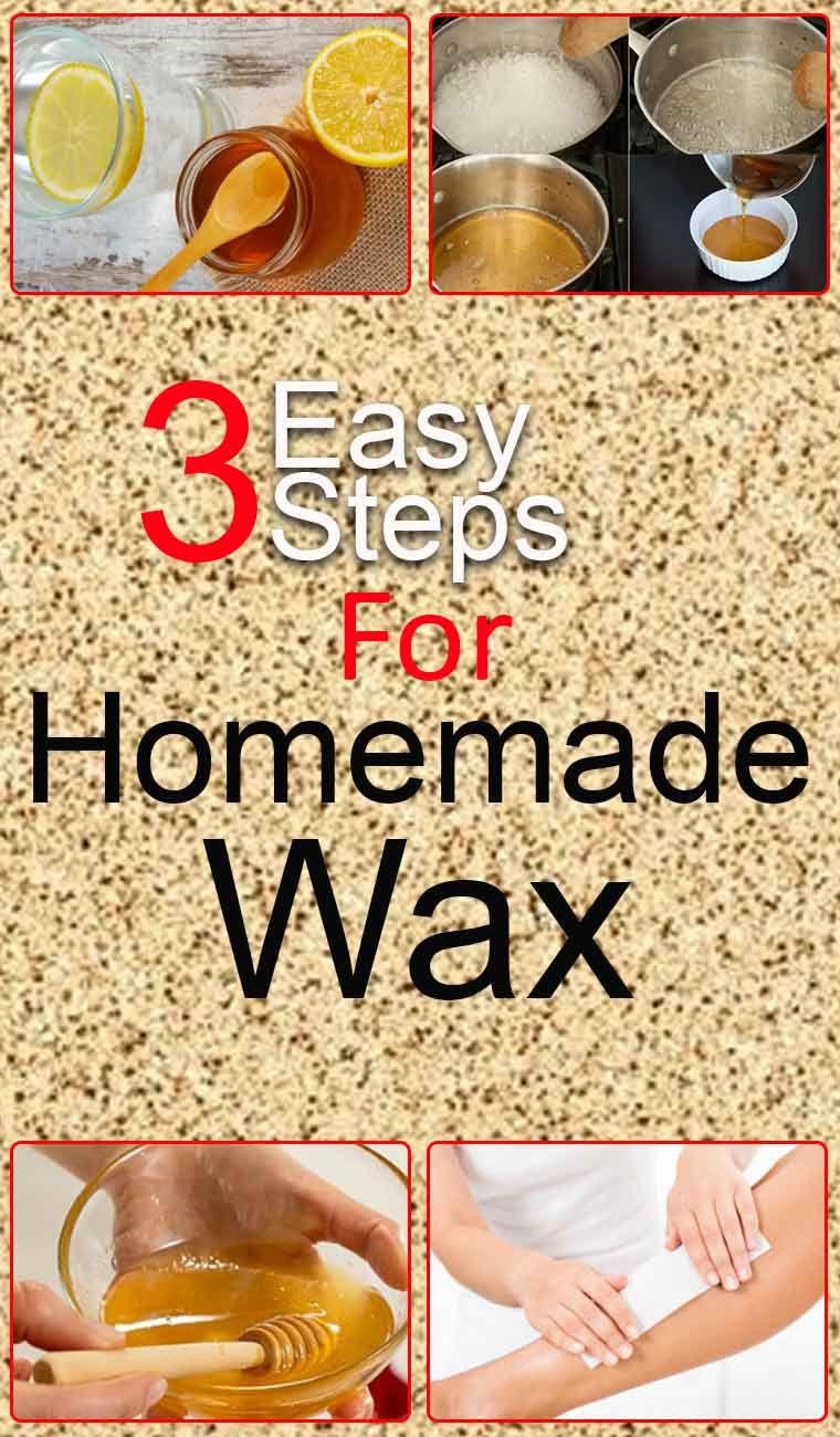 how to make homemade wax Homemade hair removal, Wax hair