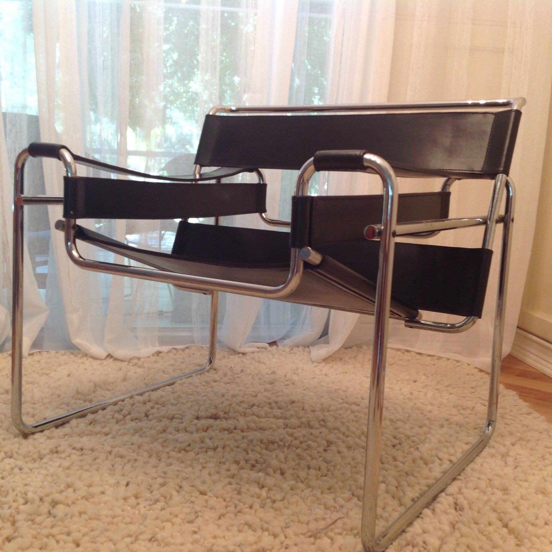 A Vintage Mid Century Modern Marcel Breuer Wassily Chair With