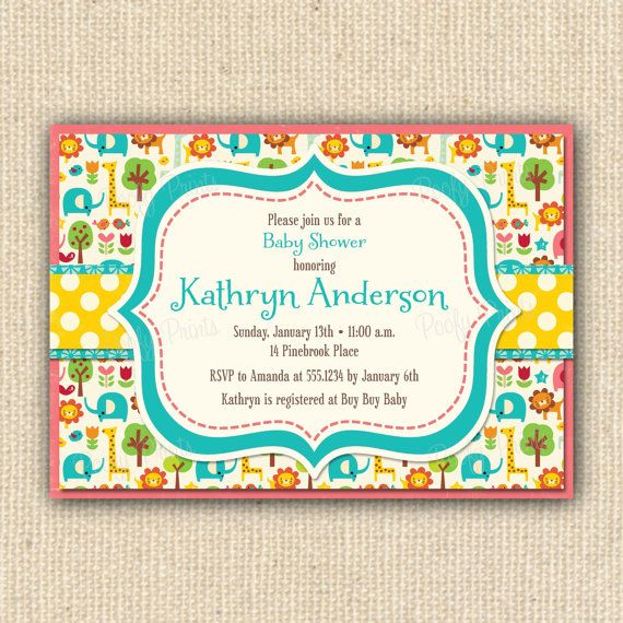 Zoo Animals Baby Shower Invitations The Most Epic Baby Shower