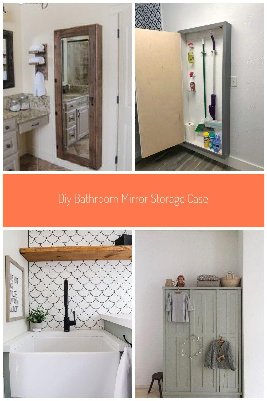 Diy Bathroom Mirror With Lots Of Storage Free Plans And Tutorial At Shanty 2 Chic Com Bathroom St In 2020 Bathroom Mirrors Diy Diy Bathroom Bathroom Mirror Storage