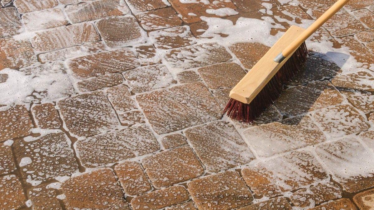 Concrete paver preseal cleaner for landscape techniseal