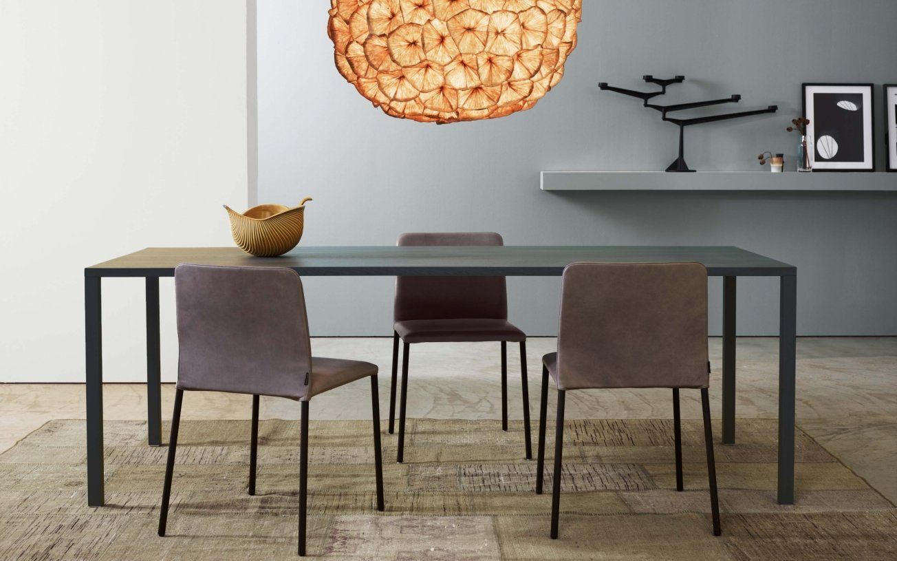 This Simple Yet Luxurious Dining Table Is Perfectly Suited For A Awesome Slim Dining Room Tables Decorating Design