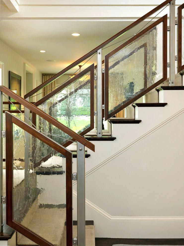 Best Glass Stairs Railing Cost Staircase Contemporary With 400 x 300