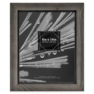 Timber 8 Inch X 10 Inch Wood Frame In Grey Black Frame Timber Wood Wood