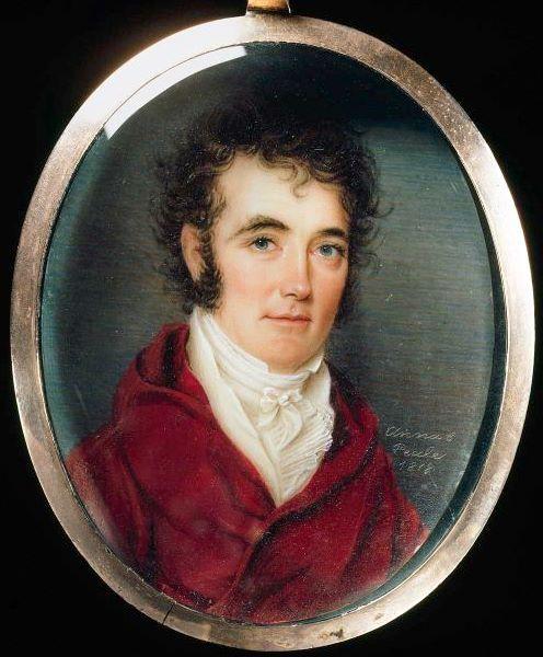 """""""Portrait of Colonel Richard M. Johnson"""" by Anna Claypoole Peale. MFA Boston:"""