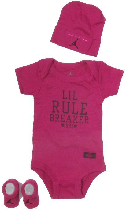 b9aae6c52b651 Amazon.com: Jordan Baby Clothes Lil Rule Breaker Set for Baby Boys ...
