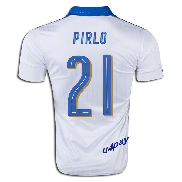 fb0dd4b8 sale 2016 uefa euro italy andrea pirlo 21 youth away soccer jersey 92852  0526f
