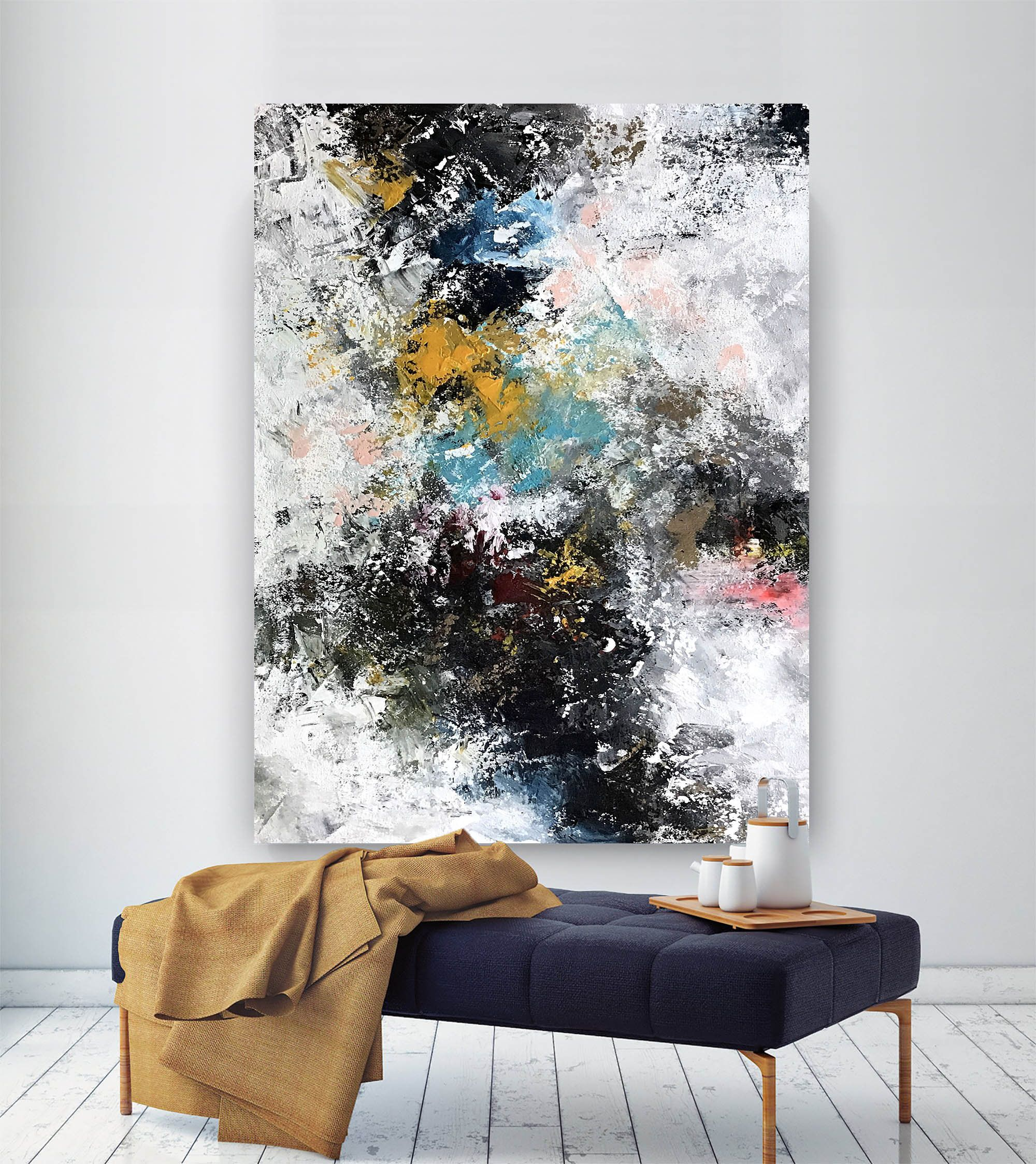 Large Abstract Wall Art Original Abstract Wall Art Xl Abstract