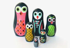 Molly Meg – Pocket Sized Nesting Dolls, owls
