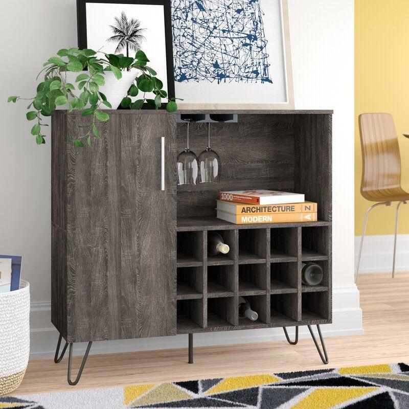 Buena Vista Mid Century Wine And Bar Cabinet In 2020 Wine Bar Cabinet Furniture Mid Century Bar Cabinet