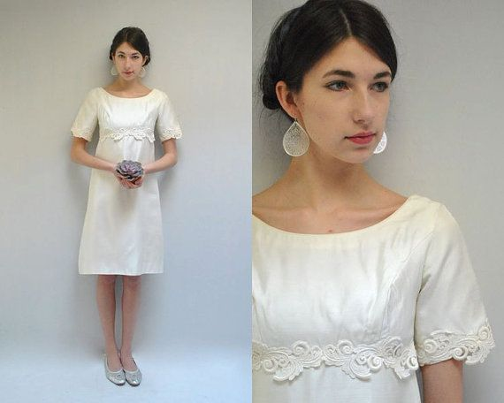 Ivory Wedding Dress  //  60s Wedding Dress  by VintageUrbanRenewal, $145.00