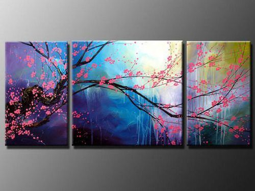 I love the colours and the multiple canvases!