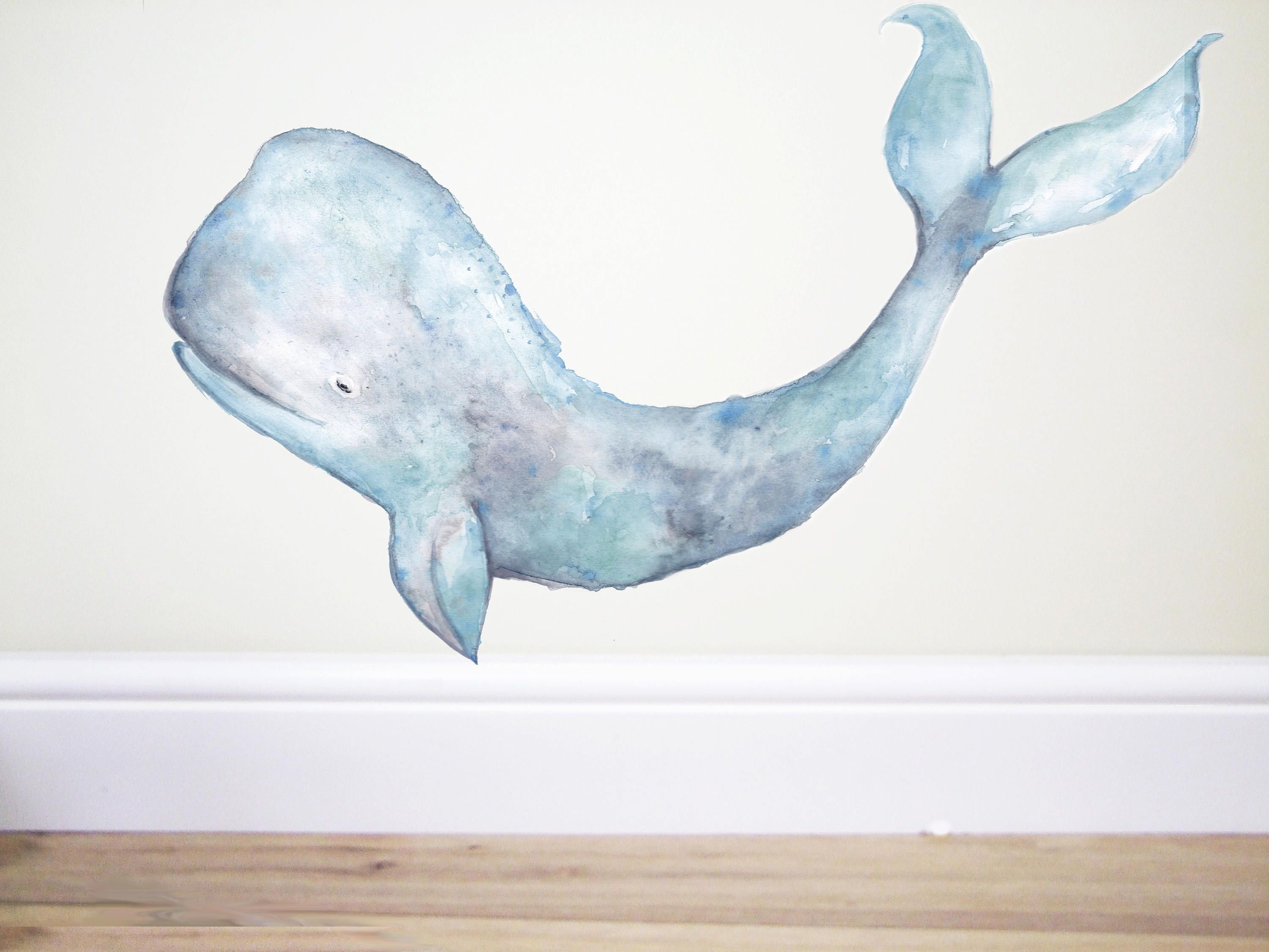 Humpback Whale Decal Whale Sticker Whale Wall Decal Under The Sea Decor Whale Art Nursery Wall Decal Mermaid Decal Mermaid Decor Art Whale Wall Decals Animal Wall Decals Whale Decal