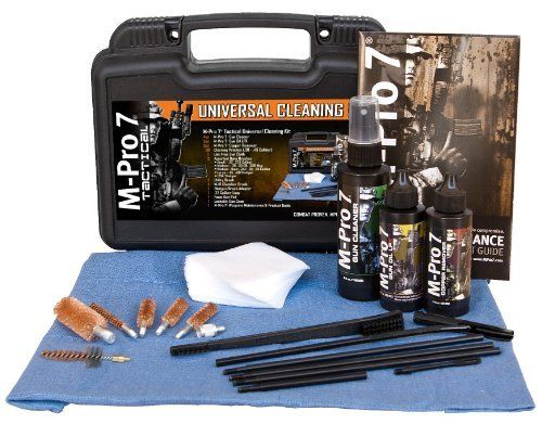 M-Pro 7 Tactical Universal Cleaning Kit by M-Pro 7. $46.18. Designed with the needs of tactical shooters in mind, the M-Pro 7® Tactical Cleaning kit contains all the products and tools needed to clean and maintain weapons for optimal performance and reliability. This revolutionary gun cleaning system was developed for use on all rifles, handguns, shotguns, machine guns, grenade launchers, mortars, crew-served weaponry and more.. Save 30%!